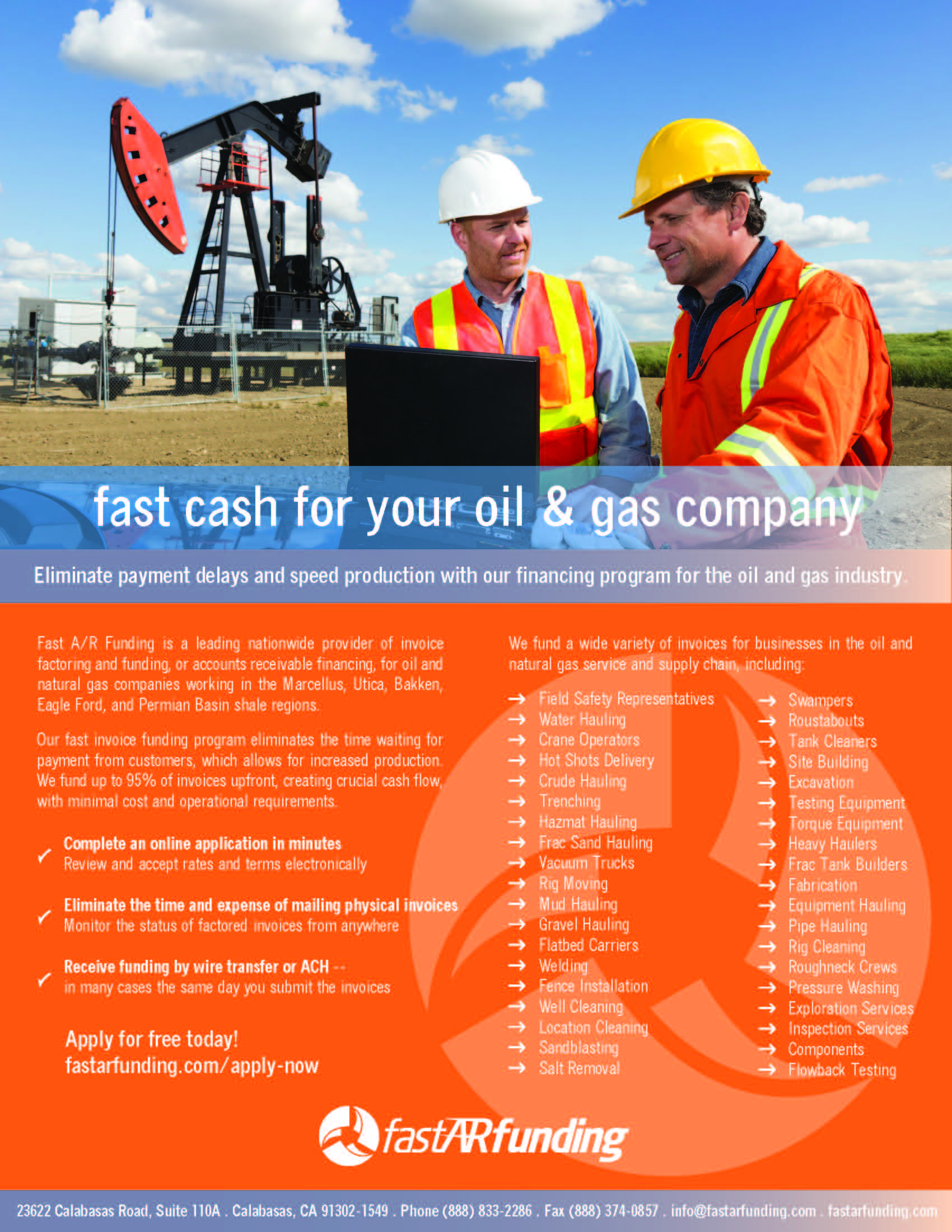 Gas Factoring, Oilfield Finance